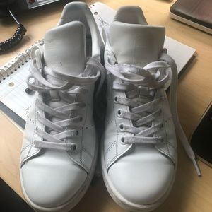 White Leather Adidas Stan Smith Sneakers size 7
